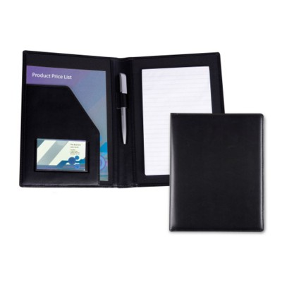BELLUNO PU A5 CONFERENCE FOLDER in Black.