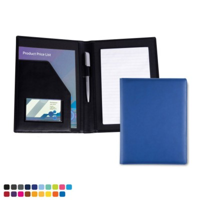 A5 CONFERENCE FOLDER in Matt Lustre Colour Torino Leatherette.