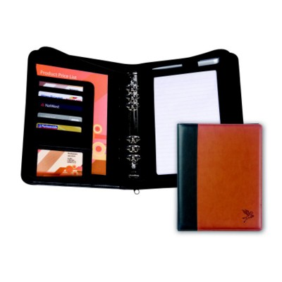 WINDSOR PU ZIP PERSONAL ORGANIZER COVER with Two Tone Cover Design.