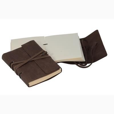 DIESEL LEATHER A5 ARTISAN LACED TRAVEL JOURNAL OR NOTE BOOK.