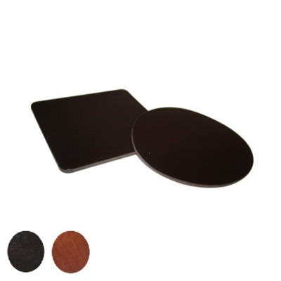 SIMPLE ROUND COASTER in Thick Saddle Leather.