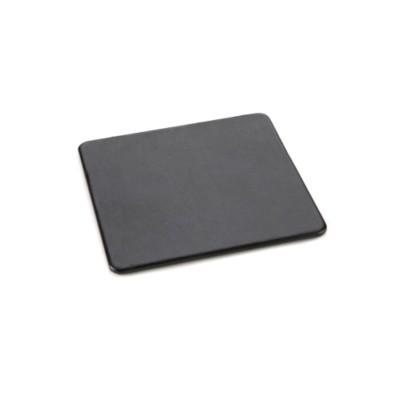 SQUARE COASTER in Black Belluno PU Leather.