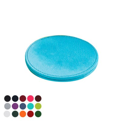 DELUXE ROUND COASTER in Belluno PU Leather.