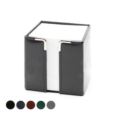 TALL PAD CUBE BLOCK HOLDER in Hampton Finecell Leather.