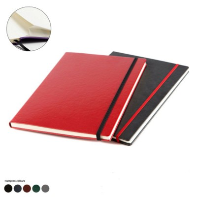A4 CASEBOUND NOTE BOOK in Hampton Finecell Leather.