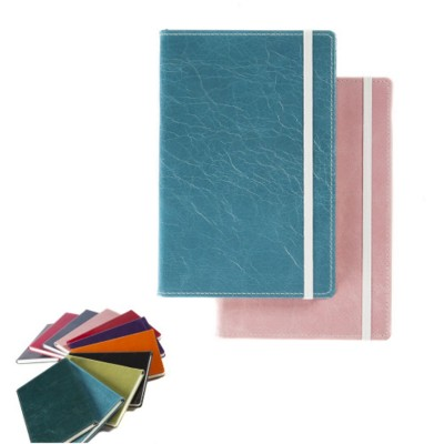 A5 CASEBOUND NOTE BOOK in Kensington Nappa Leather.