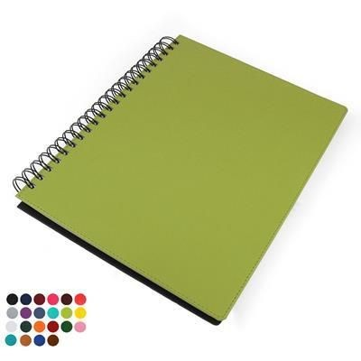 A4 WIRO NOTE BOOK with Soft Touch Leather Look Cover.