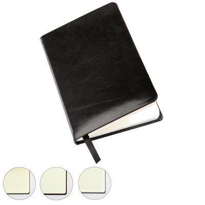 SANDRINGHAM NAPPA LEATHER POCKET CASEBOUND NOTE BOOK.