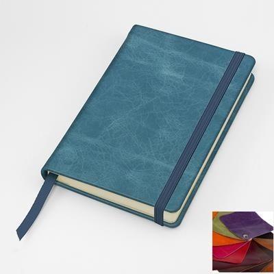 KENSINGTON DISTRESSED NAPPA LEATHER POCKET CASEBOUND NOTE BOOK.