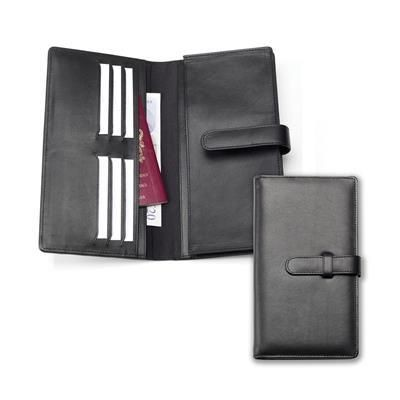SANDRINGHAM NAPPA LEATHER DELUXE TRAVEL WALLET with Strap.