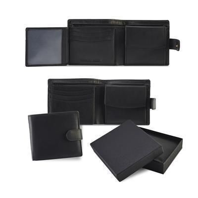 SANDRINGHAM NAPPA LEATHER GENTS WALLET with Strap & Coin Pocket.