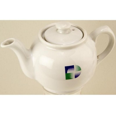 CERAMIC POTTERY TEA POT in White.