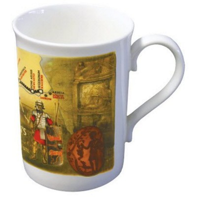 BONE CHINA WINDSOR MUG in White.