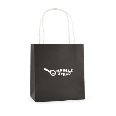 BRUNSWICK SMALL PAPER BAG in Black.