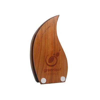 REAL WOOD BLOCK AWARD with Contrasting Wood Face Plate.