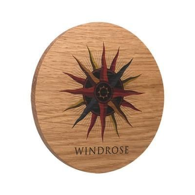 REAL WOOD COASTER with Cork Backing.