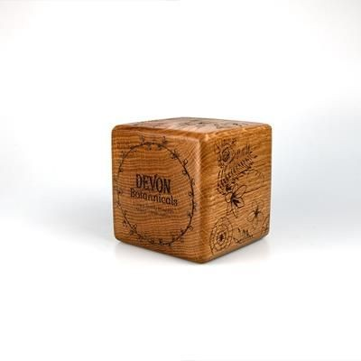 REAL WOOD CUBE AWARD with Rounded or Bevelled Edges.