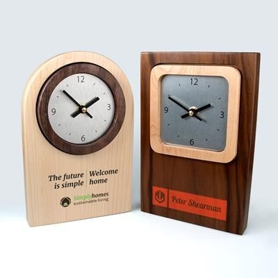 REAL WOOD CLOCK with Contrasting Clock Face Surround.