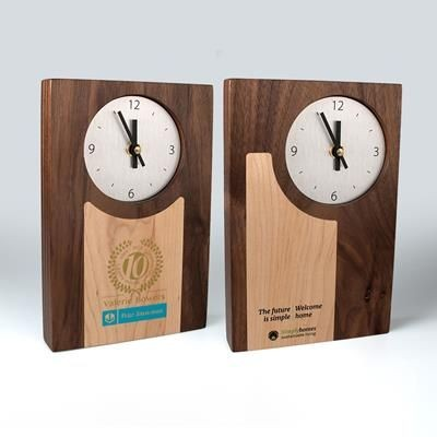 REAL WOOD CLOCK with Inlay.