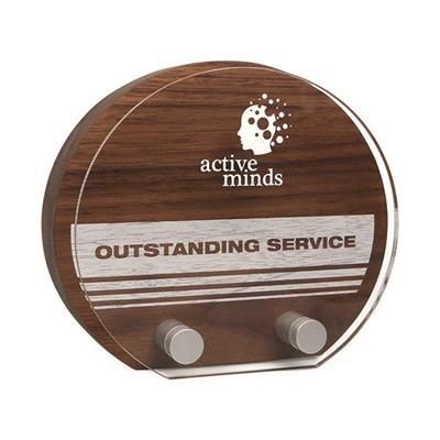 REAL WOOD SUNRISE AWARD with Acrylic Front.