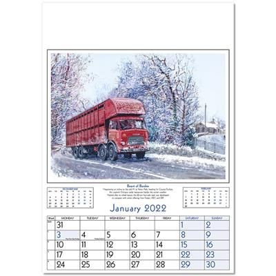 COMMERCIAL VEHICLE COLLECTION WALL CALENDAR.