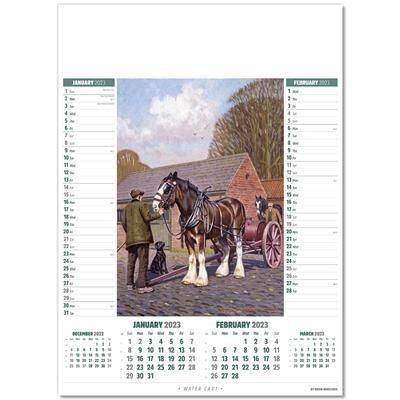 HORSE POWER MEMO WALL CALENDAR.