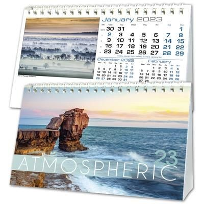 ATMOSPHERIC A5 DESK CALENDAR.