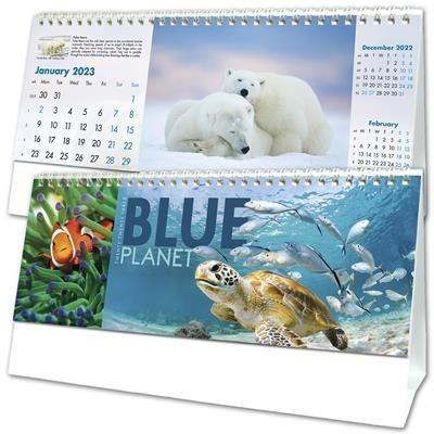BLUE PLANET DESK CALENDAR.