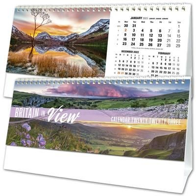 BRITAIN IN VIEW DESK TOP CALENDAR.