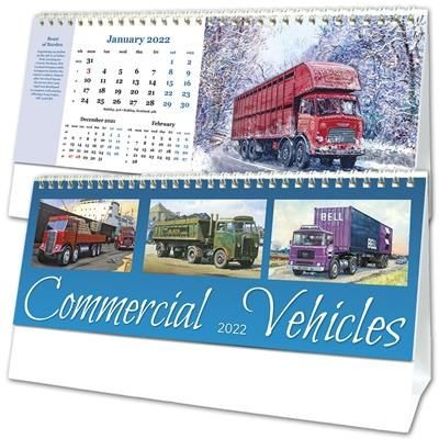 COMMERCIAL VEHICLES DESK CALENDAR.