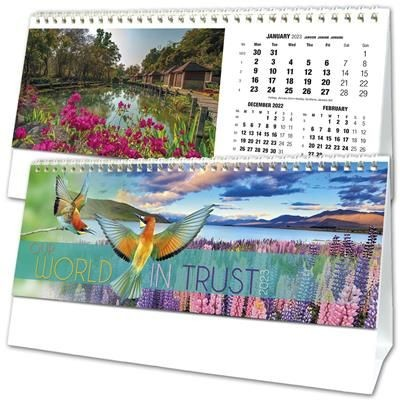 OUR WORLD IN TRUST DESK TOP CALENDAR.
