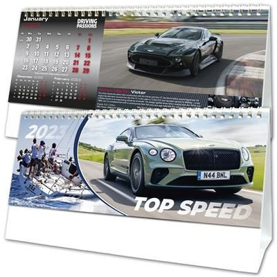 TOP SPEED DESK TOP CALENDAR.