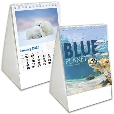 BLUE PLANET MINI DESK CALENDAR.