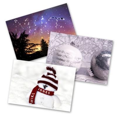 PERSONALISED CHRISTMAS GREETING CARD.