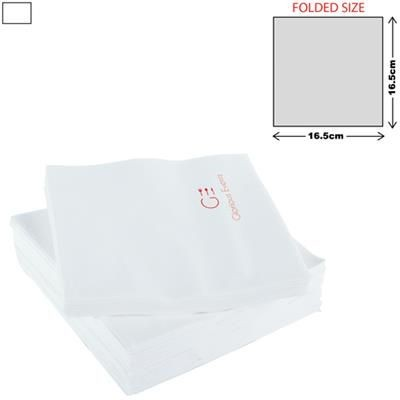 WHITE LUNCH NAPKIN 2PLY 33 X 33CM.