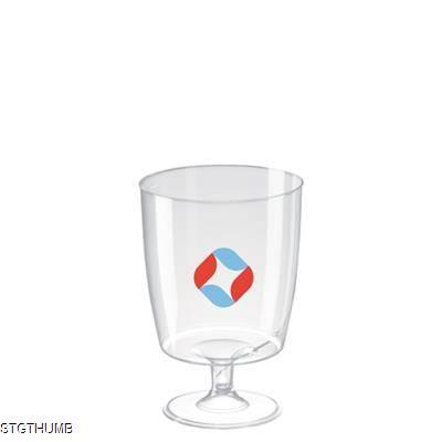 DISPOSABLE PLASTIC WINE GLASS 220ML-7OZ.