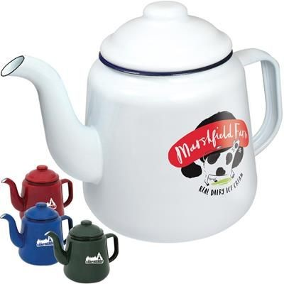 ENAMEL TEA POT.