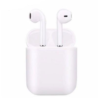 BLUETOOTH EARPHONES SET in White.
