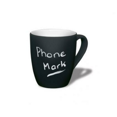 MINI MARROW CHALK MUG in Black.