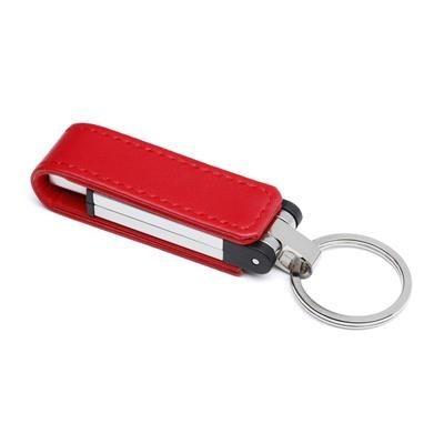 LEATHER FLIP USB FLASH DRIVE.