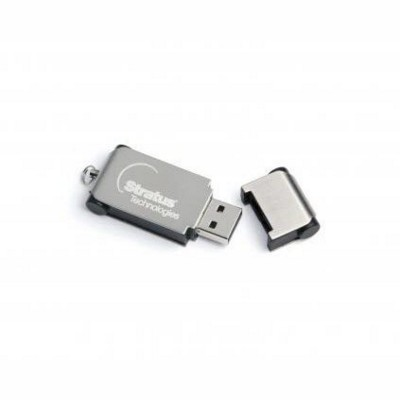 PLATE USB MEMORY STICK in Black & Silver.