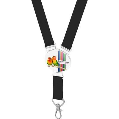 ELLIPTICAL SNAP LANYARD in Black.