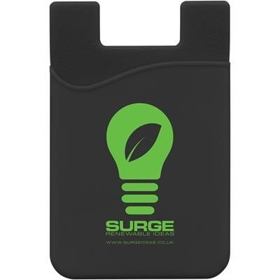 SILICON MOBILE PHONE WALLET in Black.