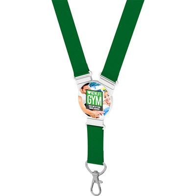 ROUND SNAP LANYARD in Green.