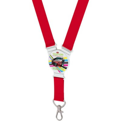 ROUND SNAP LANYARD in Red.