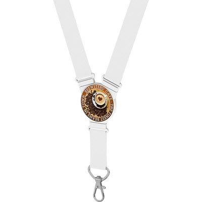 ROUND SNAP LANYARD in White.