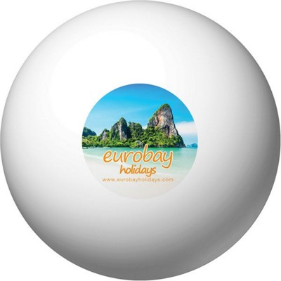 ROUND STRESS BALL in White.
