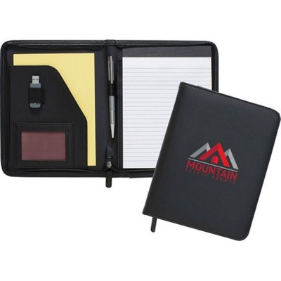 DARTMOUTH A5 CONFERENCE FOLDER in Black.