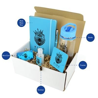 CORPORATE GIFT PACK in Cyan.