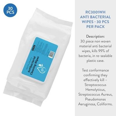 ANTIBACTERIAL WET WIPE TISSUE PACK 30.